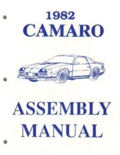 CAMARO 1982 Assembly Manual 82