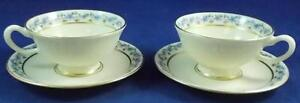 Lenox-FAIRMOUNT-2-Cup-and-Saucer-Sets-T3-GOOD-CONDITION