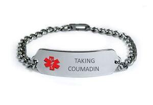 Image Is Loading Taking Coumadin Medical Alert Id Bracelet Free