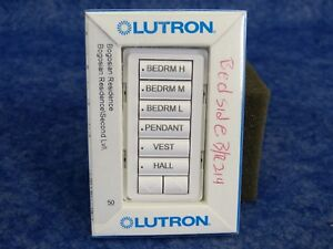 HomeWorks 6 Button Dimmer With Raise Lower Taupe Lutron STWD-7BRL-TP
