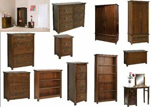 Boston Dark Wood Bedroom Furniture Bedside Table Chest of Drawers eBay