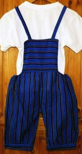 orange grün blau Baumwoll Latzhose Träger Hose Gr.98//104 Hippie Ethno Ecuador
