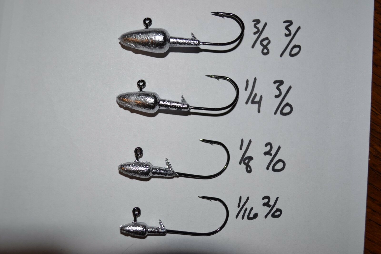Tapered Tube Jig 2//0,3//0,4//0 black nickel hook 15 pack
