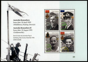 1995-Remembers-Minisheet-ANZAC-Stamps-Mint-Australia