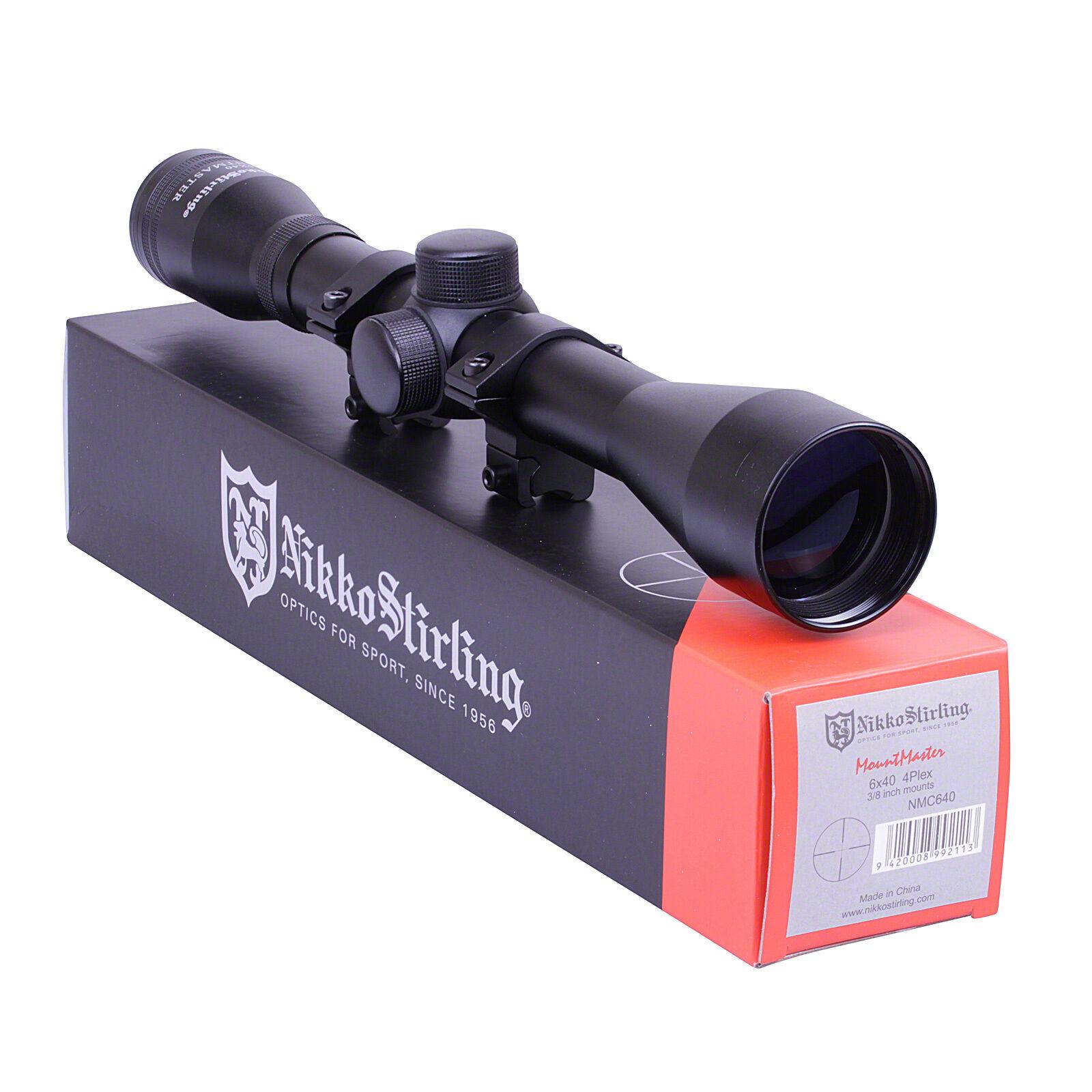 Nikko Stirling Mountmaster 6x40 RIFLESCOPE 11mm MOUNTS Rifle Scope Sight