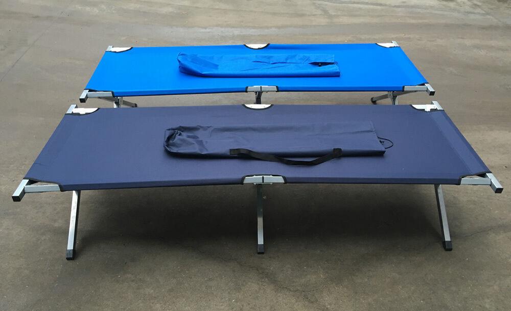 Cama de campo, Navy, azul verdoso, cama de camping, cama plegable, camping tumbona cama,, tumbona