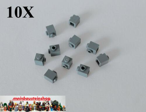 10X Lego® 87087 Steine Konverter 1X1 m 1 seitlichen Noppen neues Dunkelgrau NEU