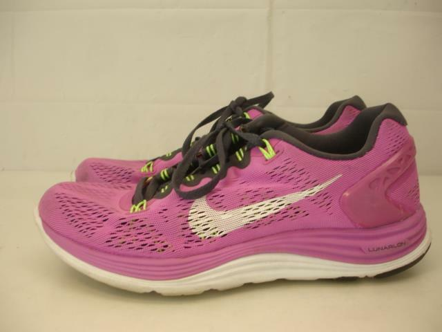 the best attitude 8b9f2 11f8b 599395-610 Nike Lunarglide + 5 +5 Womens sz 8 M 39 Running Shoes Club Pink  Lime