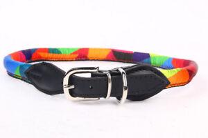 Nylon-Hundehalsband-Zugstopphalsband-Verstellbare-Hundeleine-Bunt-XS-S-M-XL-XXL