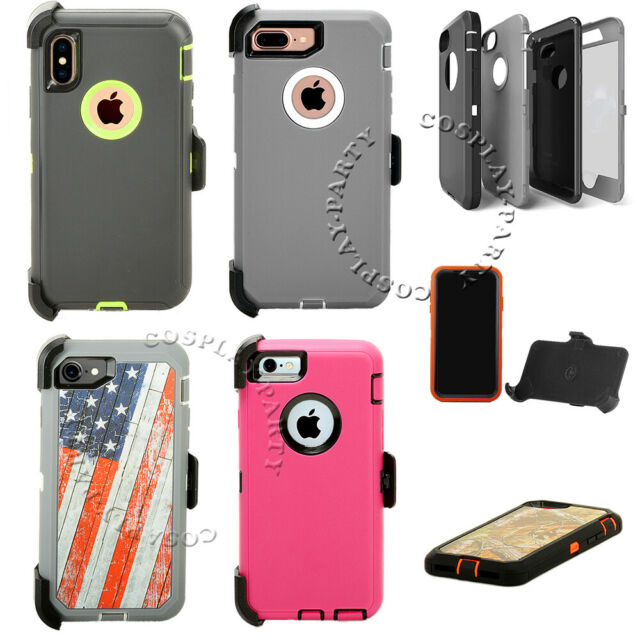 For Iphone 6 6s 7 8 Xs Max Xr Case Rugged Heavy Duty Shockproof Rubber Cover