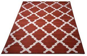 Image Is Loading Burnt Orange Moroccan Trellis Modern Area Rugs Lattice