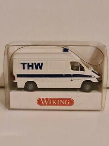 """Wiking #69307 #Mercedes-Benz Sprinter (2000) """"THW"""" weiß/blau #1:87/H0 NEU/OVP"""