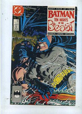 Dc Comics *cbx40c Pleasant In After-Taste Batman 420 Vf Starlin Ten Nights Of The Beast 1940