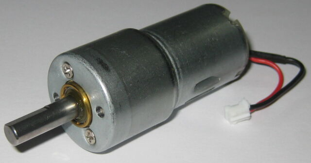 500 RPM Hobby Project 12 V DC Gearhead Motor - High Torque - 6mm D-Type Shaft