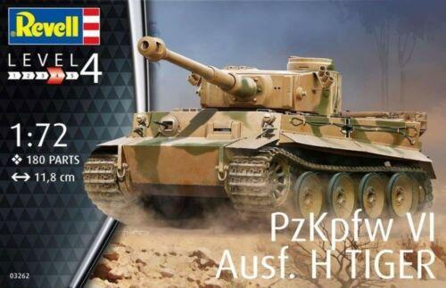 PzKpfw VI Ausf.H Tiger Brand New RV03262 Revell 1:72 Tracked UK P/&P!!