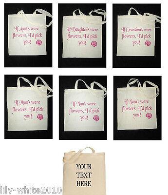 Personalised Tote/Shopping/Cotton/Canvas Bag, Mum,Nan,Nana Personalised Gift,