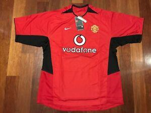 c5241e505 A imagem está carregando Manchester-United-2002-2003-Camisa-De-Futebol-Casa-