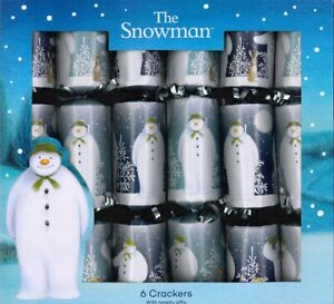 Box-of-6-The-Snowman-Christmas-Crackers-Family-Party-With-Gift-Hat-Stickers-0012