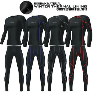 Mens-Compression-Tights-Shirt-Base-Layer-Thermal-Pant-Under-Full-Suit-Winter