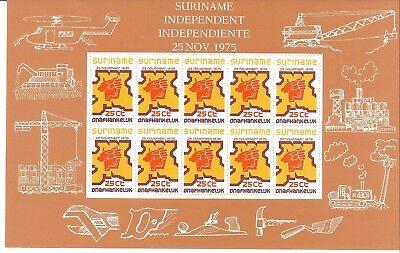 0189/ Surinam 702 - 704 Kb Unabhängigkeit ** Kleinbögen