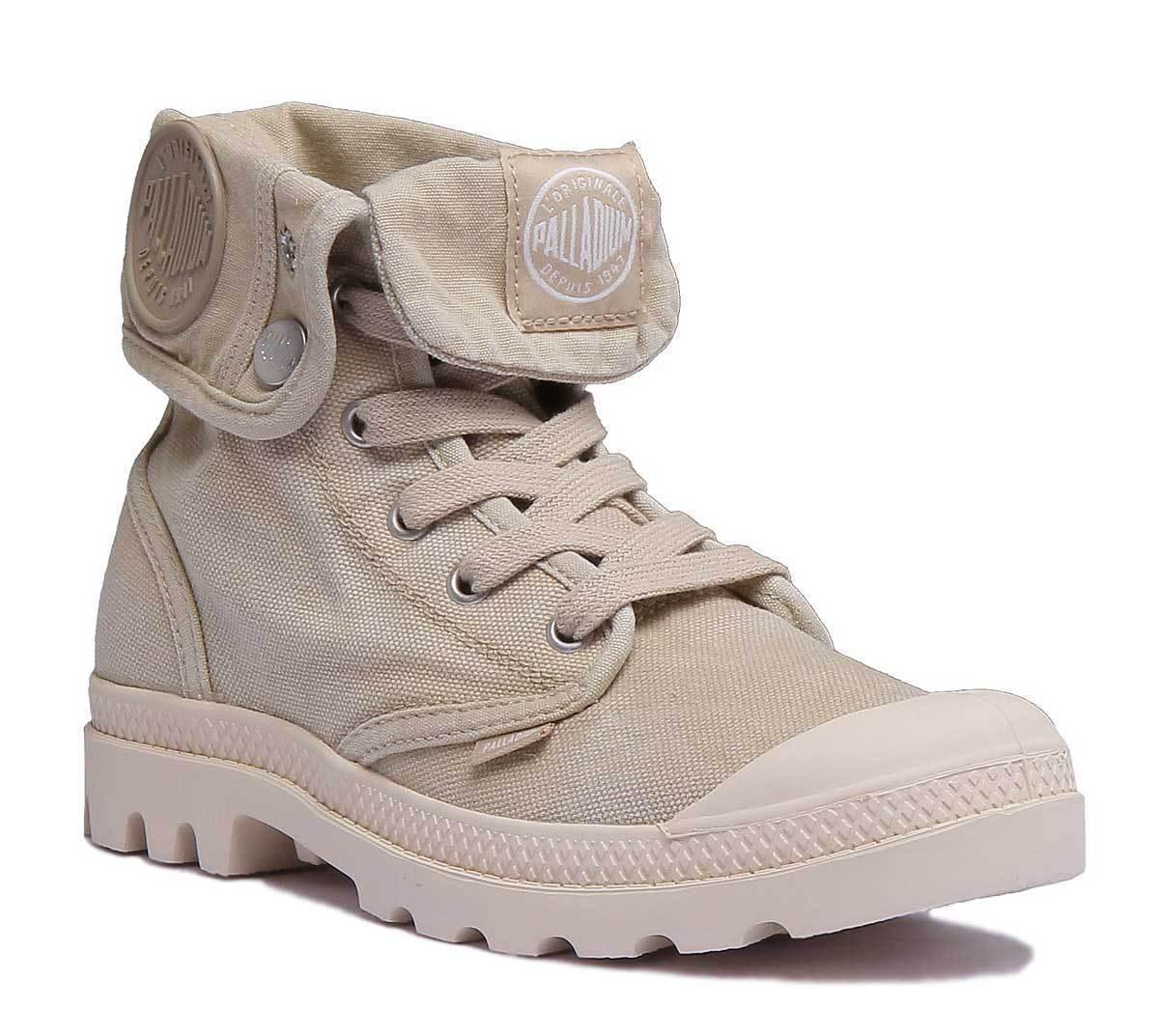 Palladium Us Baggy Womens Khaki Canvas Boots Size UK 3 - 8
