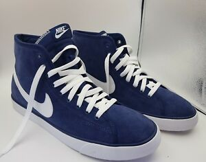 d8fce6abf858 Nike chaussures de sport hautes baskets homme en cuir daim bleu ...