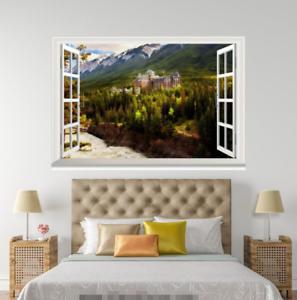3D Lake Mount 529 Open Windows WallPaper Murals Wall Print Decal Deco AJ Summer