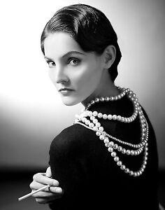 Coco Chanel Photo Picture Famous Fashion Designer 8x10 Real Canvas Print Ebay