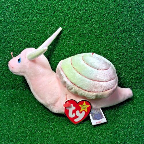 Ty Beanie Baby Swirly The Snail 1999 Retired Plush Toy Free Shipping MWMT