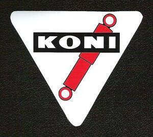 Details About Koni Shocks Sticker Triangle Shape Vintage Sports Car Racing Decal