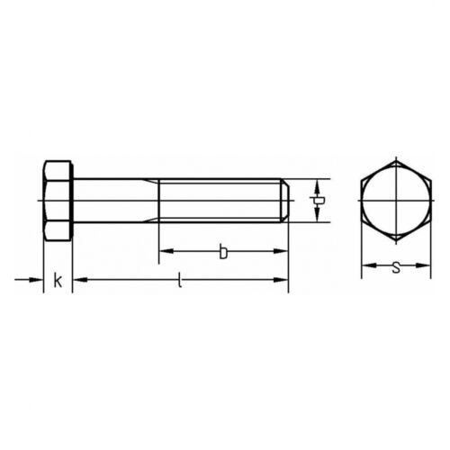 10x ISO 4014 Sechskantschrauben mit Schaft M 8 x 40 10.9 Zinklamellenbeschicht