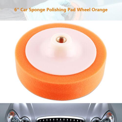 "6/"" Orange Sponge Polishing Buffing Waxing Pad Wheel For Car Polisher Buffer AP"