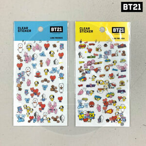 BTS-BT21-Official-Authentic-Goods-Clear-Sticker-Warr-Ver-2SET-Tracking