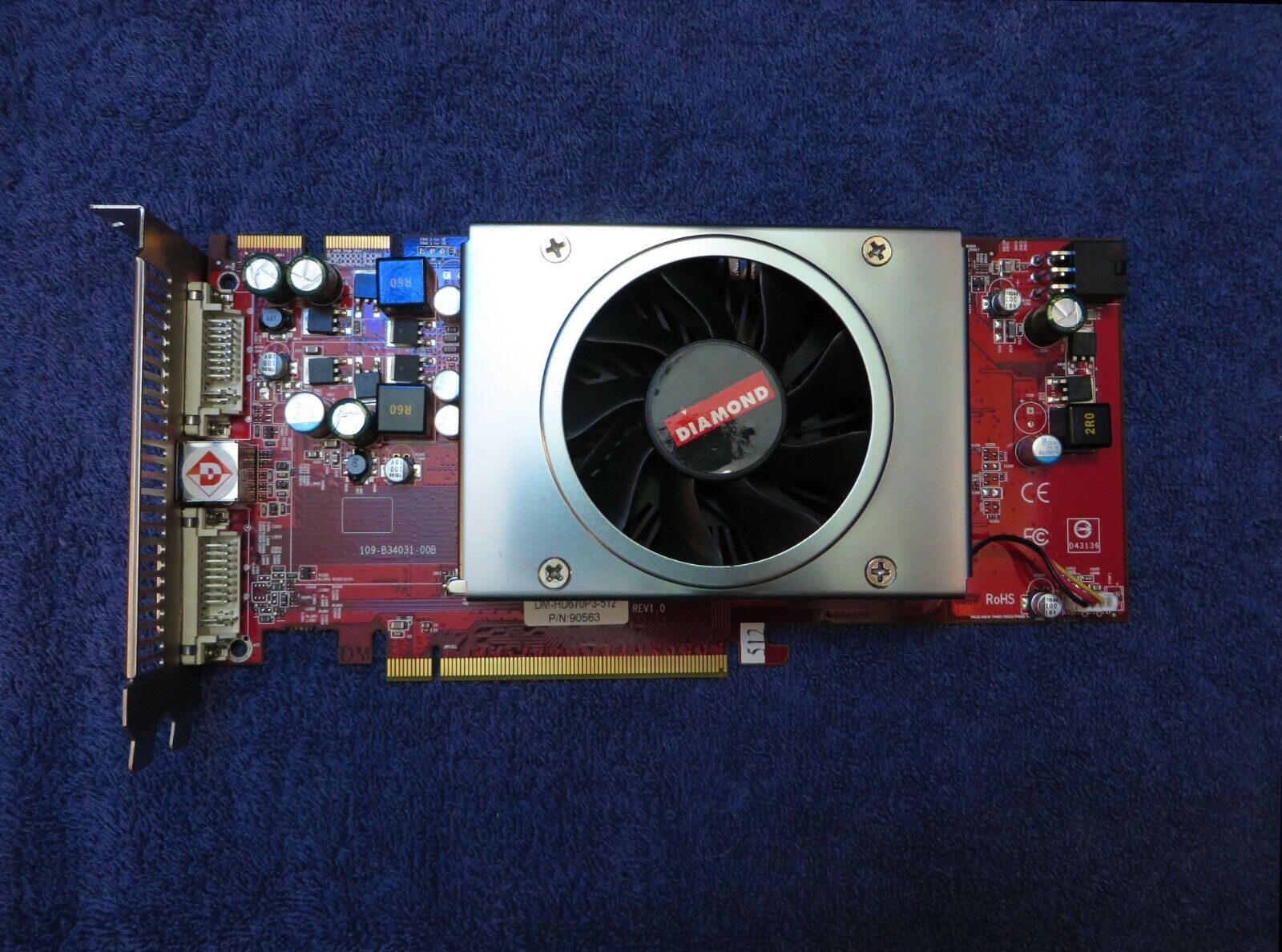 ATI Radeon Diamond HD 3850 512MB PCIE Video Graphics Card DM-HD670P3-512