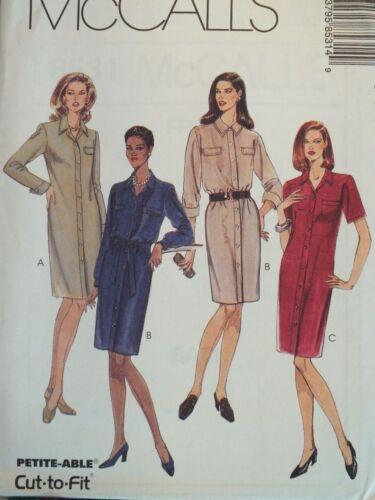 Lovely OOP McCALLS 8531 MS//MP Shirt-Dress /& Sash PATTERN 4-6-8-10-12-14-16 UC