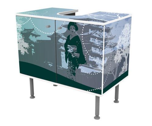 Badunterschrank Old Floral Asia Designschrank Bad Unterschränke