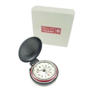 Victorinox Vintage SWISS ARMY DUAL TIME TRAVEL ALARM Clock w/ Box German Swiss