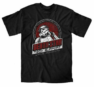 STAR WARS DEATH STAR TECH SUPPORT FUNNY DESTROYER POSTER BLACK T SHIRT S-3XL