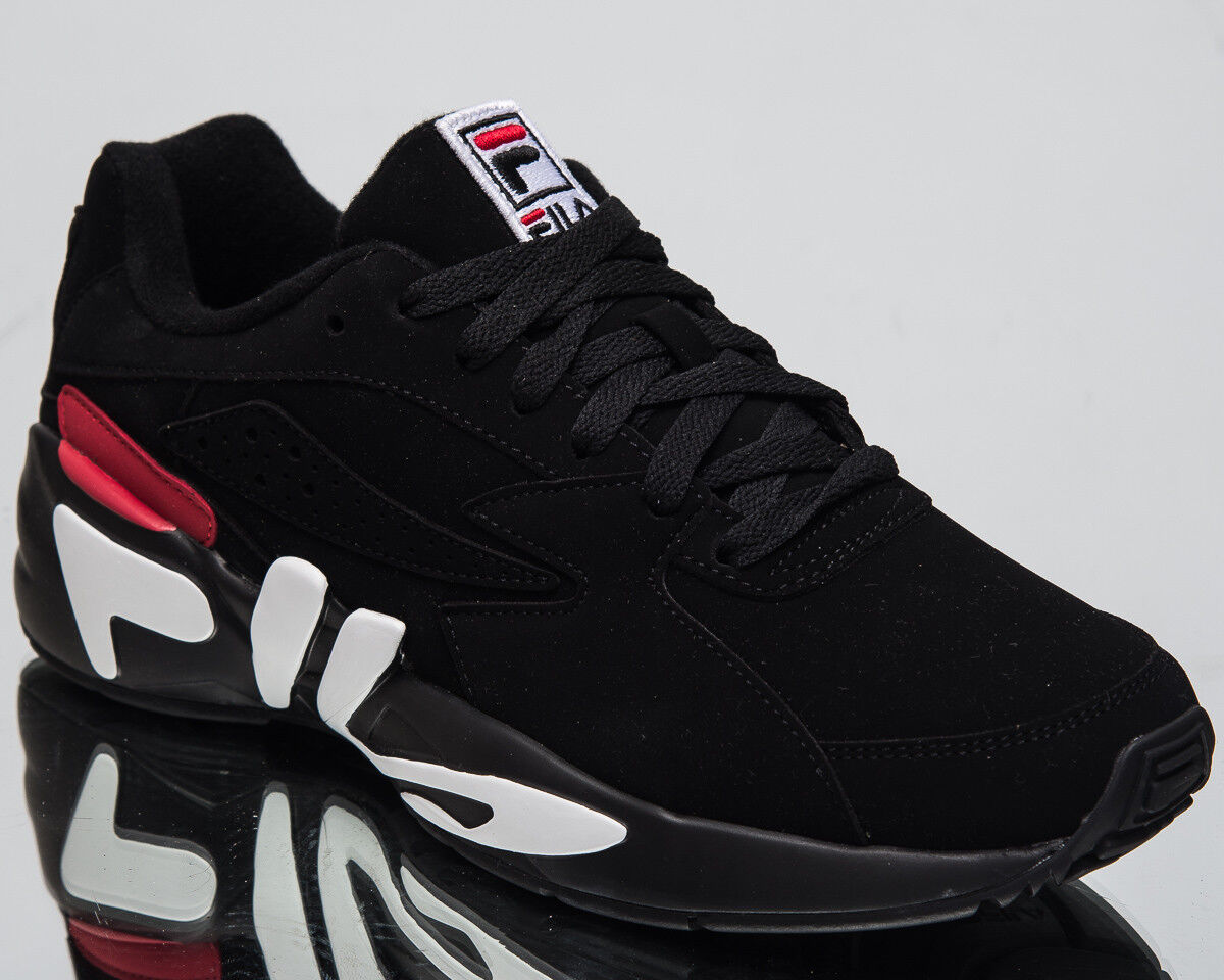 Fila Mindblower Herren Neu Lifestyle Schuhe Schwarz Weiß Rot Turnschuhe