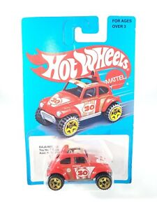 2016-Hot-Wheels-Baja-Beetle-Retro-Style-Series-Red-DNF30-NEW-NOC-with-Protector
