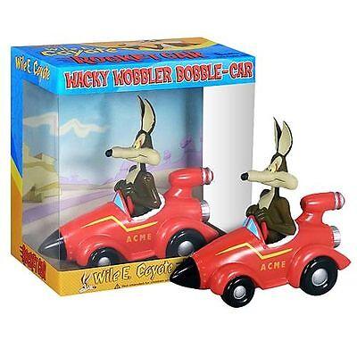 FUNKO LOONEY TUNES WILE COYOTE ACME ROCKET CAR BOBBLE HEAD WACKY WOBBLER NEW