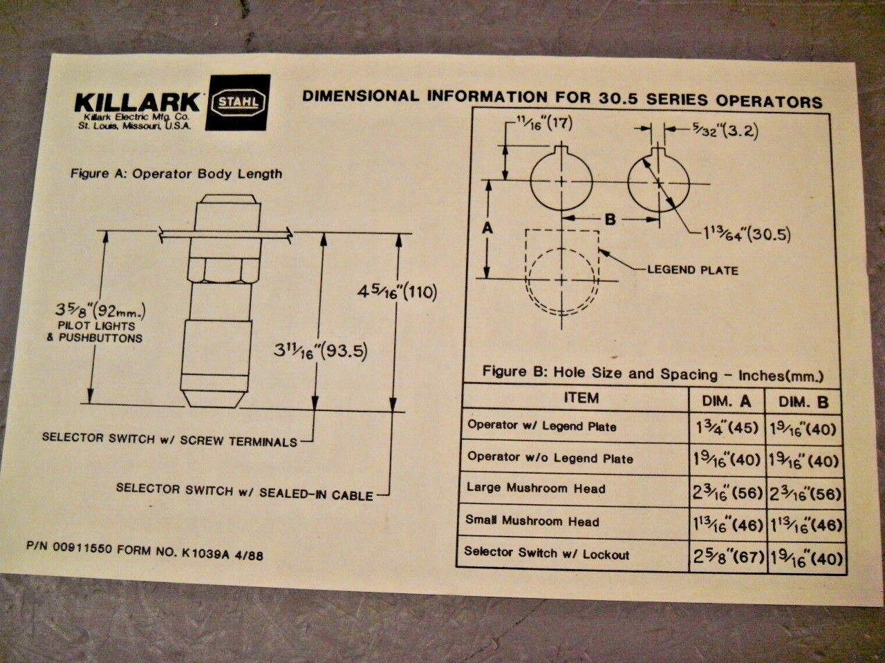 killark stahl 8003/5 control switch 2-pole 3-position 6m flexible leads  18awg for sale online | ebay