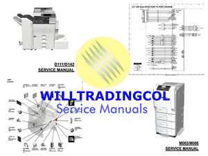 Details about Ricoh Aficio MP4054 5054 6054 Service manual, parts and  diagrams