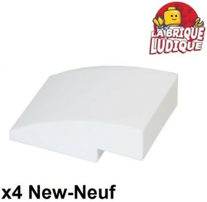 gris grey 4 x LEGO 24201 Brique Courbée Curved 1x2 Slope Inverted NEUF NEW