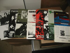 200-Punk-7-034-Record-Sleeve-Wholesale-LOT-Metal-Private-Label-UNFOLDED-new-ART