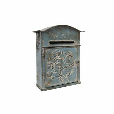 Blue Mailbox Retro Vintage European Outdoor Wall Mounted Mail Box Post Box Secure Letterbox Outside Mailboxes