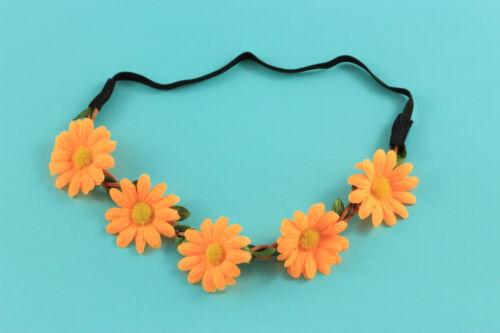 Haarband Stirnband Blumen Boho Hippie Festival Party Hochzeit Haarschmuck A118a