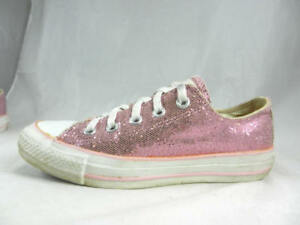 Details about Nice Used CONVERSE Chuck Taylor All Star Pink Sparkle Canvas Low Women's 6