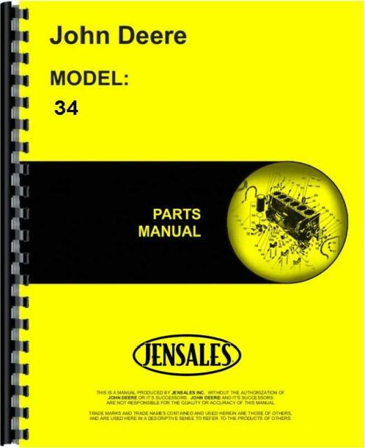 Business & Industrial John Deere 34 Manure Spreader Parts Manual ...