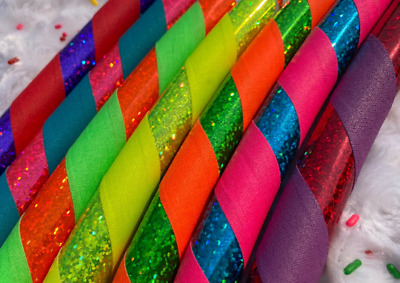 LIGHTWEIGHT Hula Hoop Sparkle and Grip for Adults and Kids